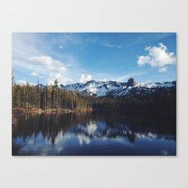 Snowy Peak and Lake Canvas Print