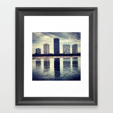 Hi-Rises & Beach Framed Art Print