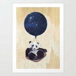 Panda in space Art Print