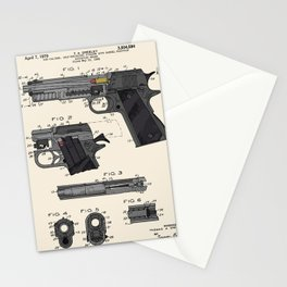 Colt 1911 Handgun Patent Stationery Cards