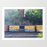 grafitti Art Prints featuring grafitti  by Mallory Powers