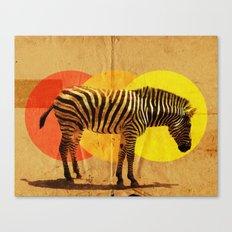 Zebra Card Canvas Print