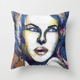 Pop Art Woman Throw Pillow