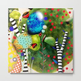 That´s how its got to be - Rupydetequila 2018 - Cactus nopal green and red polka dots Metal Print
