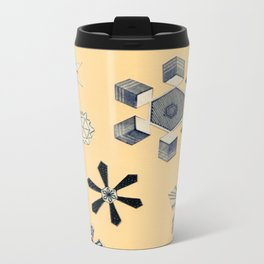 Snowflakes Metal Travel Mug