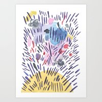 physics Art Prints featuring Quantum physics by Dreamy Me