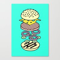burger Canvas Prints featuring Burger by Jan Luzar