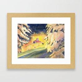 Skiing Art Framed Art Print