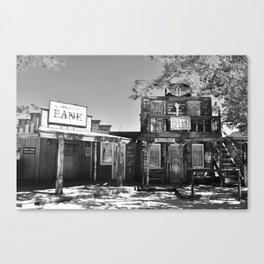 pioneer town Canvas Print
