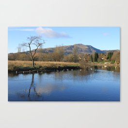 Trossachs Reflections Canvas Print