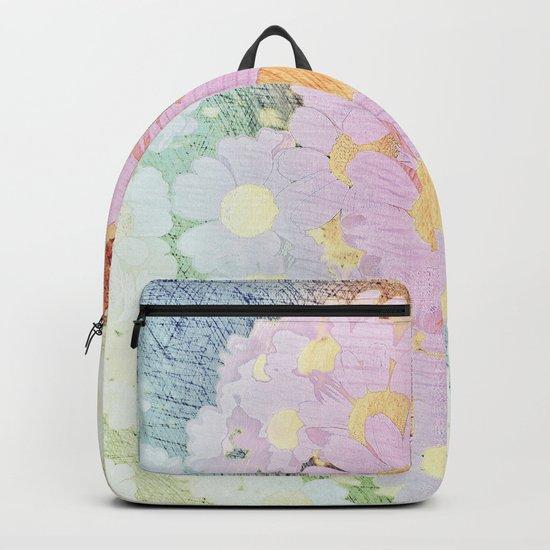 Pink Sorbet Chamomile Flowers Backpack