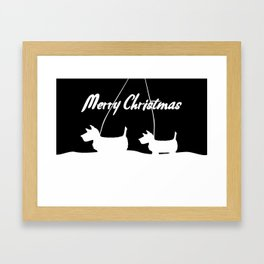 Westie White Christmas Framed Art Print