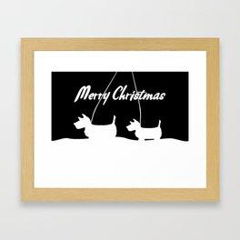 Westie White Christmas Framed Art Print