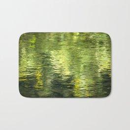 Green Water Abstract Art Bath Mat