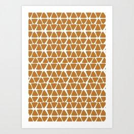Triangel Pattern Art Print