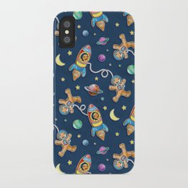 Gingerbread Astronauts iPhone Case