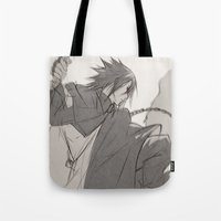 sasuke Tote Bags featuring Daddy by ilaBarattolo