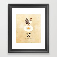 Don't Eat My Baby. Framed Art Print