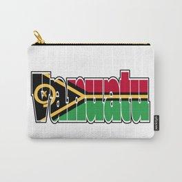 Vanuatu Font with Vanuatuan Flag Carry-All Pouch