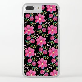 Flowers (pattern) Clear iPhone Case