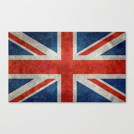 UK flag, High Quality bright retro style Canvas Print