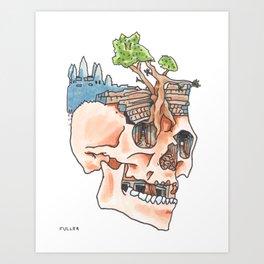 Mountain Fresh Hair: Angkor Art Print