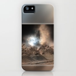 Heavy Duty Earthworks During An Eclipse iPhone Case