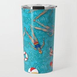 Aqua Girls & Water Swirls Travel Mug