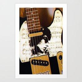 Dylan guitar Art Print