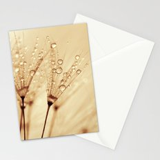 droplets of liquid gold Stationery Cards