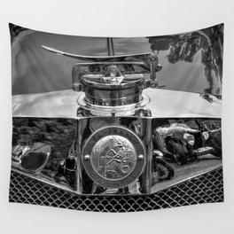 Lea Francis Radiator Cap - Monochrome Wall Tapestry