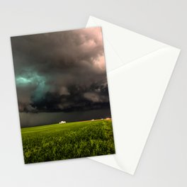 May Thunderstorm - Twisting Storm Over House in Colorado Stationery Cards