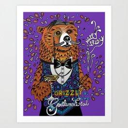 Grizzly Gentleman Art Print