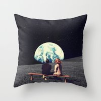 Throw Pillows featuring We Used To Live There  by Frank Moth