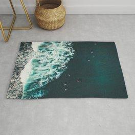 WAVES - OCEAN - SEA - WATER - COAST - PHOTOGRAPHY Rug