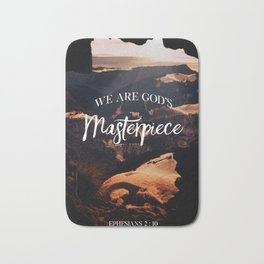We are God's Masterpiece Bath Mat