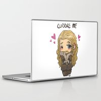 cuddle Laptop & iPad Skins featuring Cuddle me by AlyTheKitten