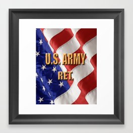 U.S. Army Retired Framed Art Print