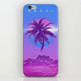 Vaporwave Palm Tree iPhone Skin
