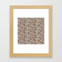 Camelflage Framed Art Print