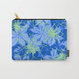 Olowalu Hibiscus Hawaiian CamoAloha Shirt Print  Carry-All Pouch