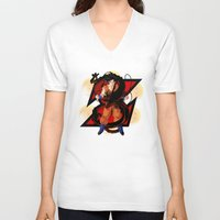 dbz V-neck T-shirts featuring DBZ - Goku by Mr. Stonebanks