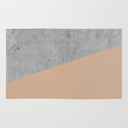 Concrete and Hazelnut Color Rug