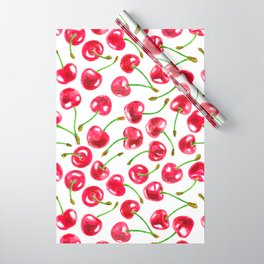 Watercolor cherries pattern  Wrapping Paper