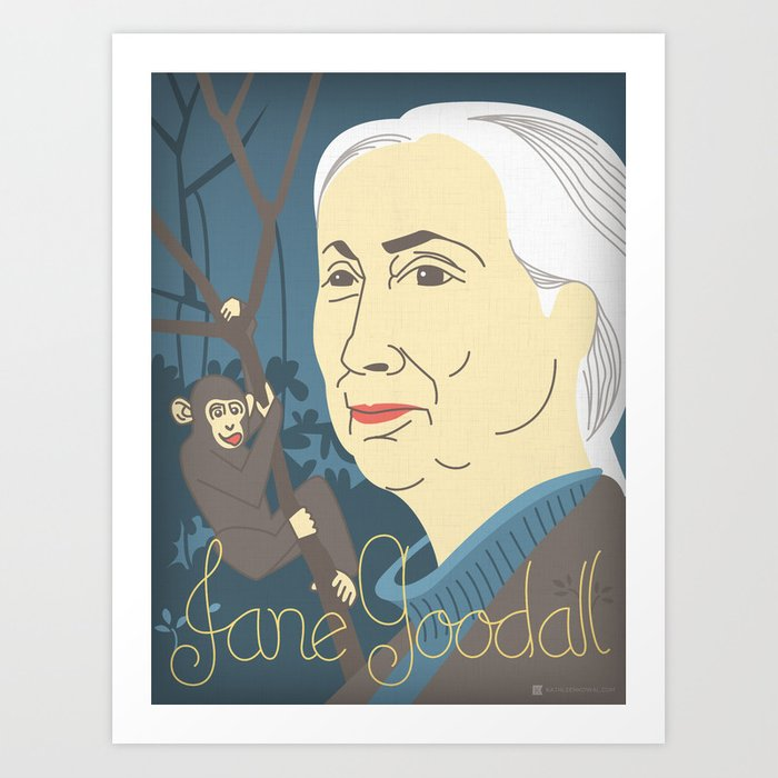 Jane Goodall Portrait Art Print