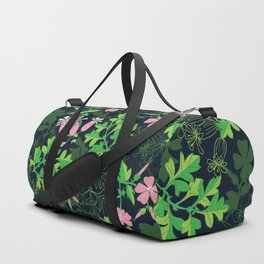 Forest Wildflowers / Dark Background Duffle Bag