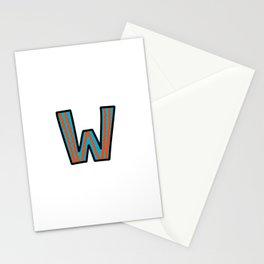 Uppercase Letter W Stationery Cards