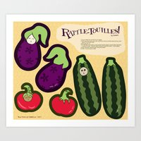 Rattle-touilles Baby Rattles Art Print