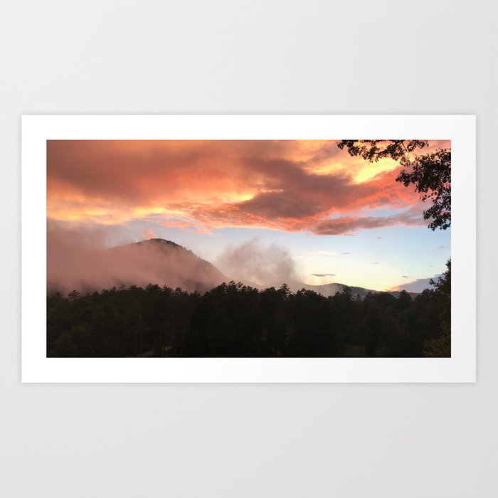 Sunset in Appalachia Art Print