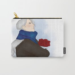victor with roses - yuri on ice Carry-All Pouch